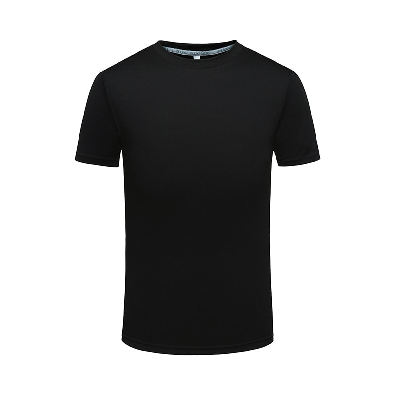 quick dry t-shirts casual man O-neck dry fit tshirt custom logo Tee tops plus size male drifit DIY printing promotion tee shirts-geekbuyig