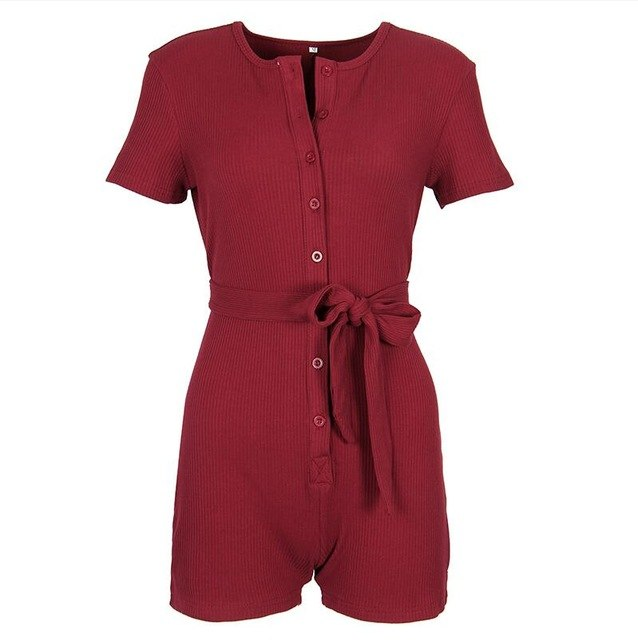 Plus Size Women Playsuits Rompers Sexy Casual Short Sleeve Jumpsuits Girls Playsuits Overalls 2018 Summer Women's Clothing GV540-geekbuyig