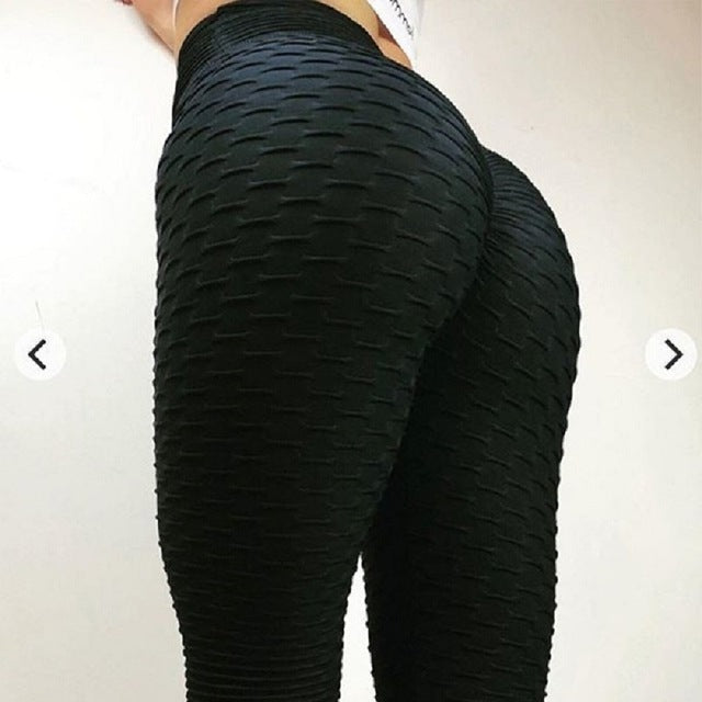 Enough Stock Knitted New Style Sexy Jacquard Weave Fitness Leggings Women Push Up Fold Elastic Pants Leggings Sporting Legging-geekbuyig
