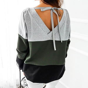 Autumn Female Plus Size Winter Sweatshirt Women Sweatshirt 2018 Harajuku Hoodies Patchwork Tracksuits Pullovers Hoody Tops GV991-geekbuyig