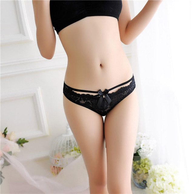 Fashion Women Lingerie Thong Panties Sexy Lace Floral G String Briefs Underwear-geekbuyig