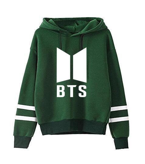 Kpop home BTS Bantan Boys the Same Around Fall and Winter Men and Women Hoodie Pullover Long Sleeve Hoody with Hat-geekbuyig