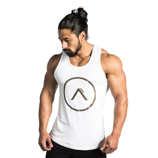 2018 New Gyms Tank Tops Bodybuilding Men Elastic Cotton Vest O-Neck Gyms Tank Top Men Sleeveless Shirts Muscle Men Fitness Tops-geekbuyig