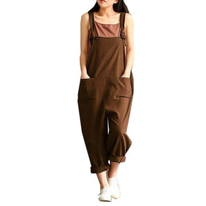 Women Pants Loose Waist Cross Pants Cotton Trousers Plus Size 3XL 4XL 5XL Bandage Trousers Rompers Wide Leg Pant-geekbuyig