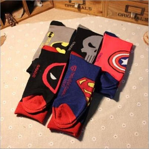 Captain America Punisher General Socks Deadpool Knee-High Warm Stitching pattern Antiskid Invisible Casual Autumn spring winter-geekbuyig