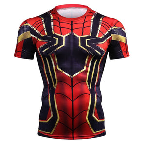 Iron Spider Spider-Man 3D Print t shirts Men Compression shirts Superhero Tops costume Short Sleeve Fitness Crossfit T-shirts-geekbuyig