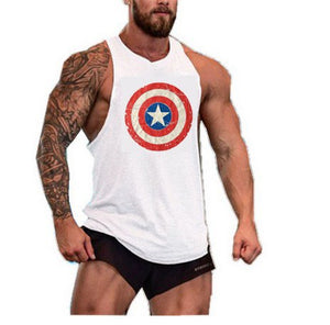 Captain America Gyms Tank Top Bodybuilding Clothing Stringer Singlets Fitness Men Golds Muscle Sleeveless Vest Blusa Masculina-geekbuyig