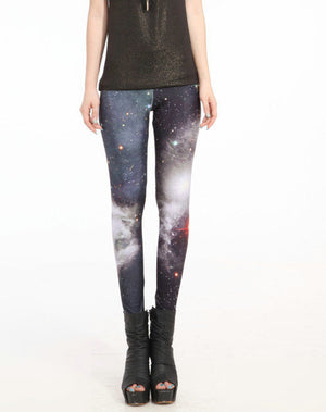 Hot Sales S To 4XL Women Punk Galaxy Space Women Leggings 6 Patterns Red Blue Grey Purple Casual Leggins-geekbuyig