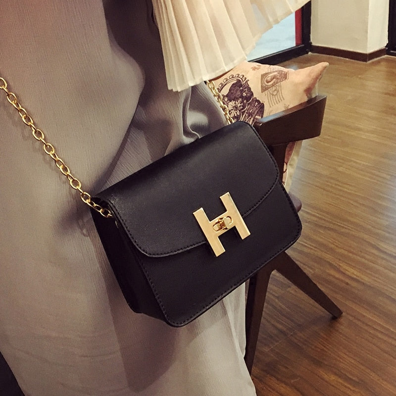 Free shipping, 2018 new trend women handbags, fashion simple flap, retro Korean version shoulder bag, chain woman messenger bag.-geekbuyig