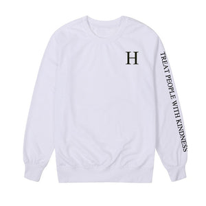 Vsenfo Harry Style Sweatshirts Women Treat People With Kindness Hoodies Funny Letters Printed Harajuku Pullover Spring Autumn-geekbuyig