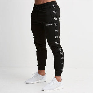 2018 New Fashion Style Men Long Gyms Pants Joggers Casual Waist Cotton Active Fitness Sweatpants Zipper Pockets Trousers-geekbuyig