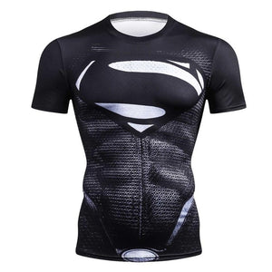 Black Panther T Shirt Captain America 3 Superhero spiderman 3D Printed T-shirts Fitness Men Crossfit Compression Shirt Tops-geekbuyig