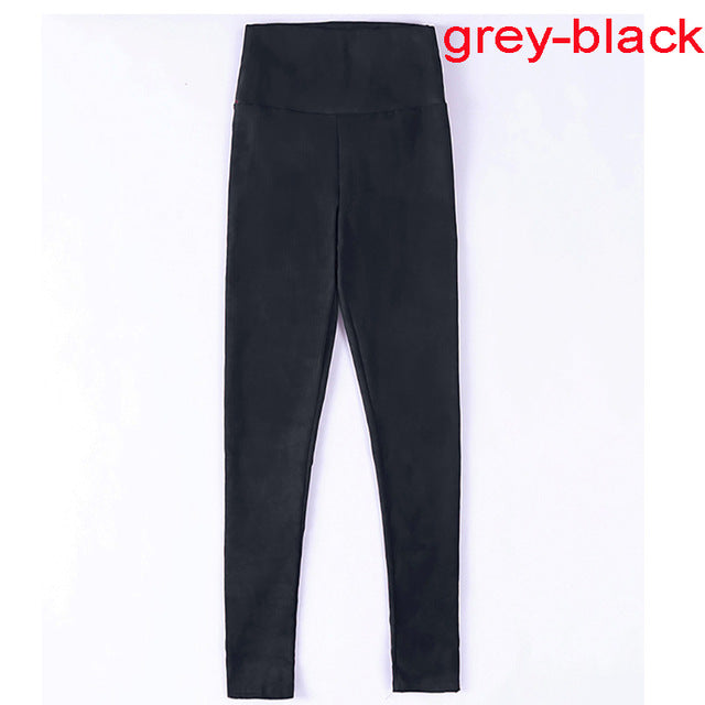 2018 spring autumn suede leather women pants high waist large elastic slim retro leather suede pants for women-geekbuyig