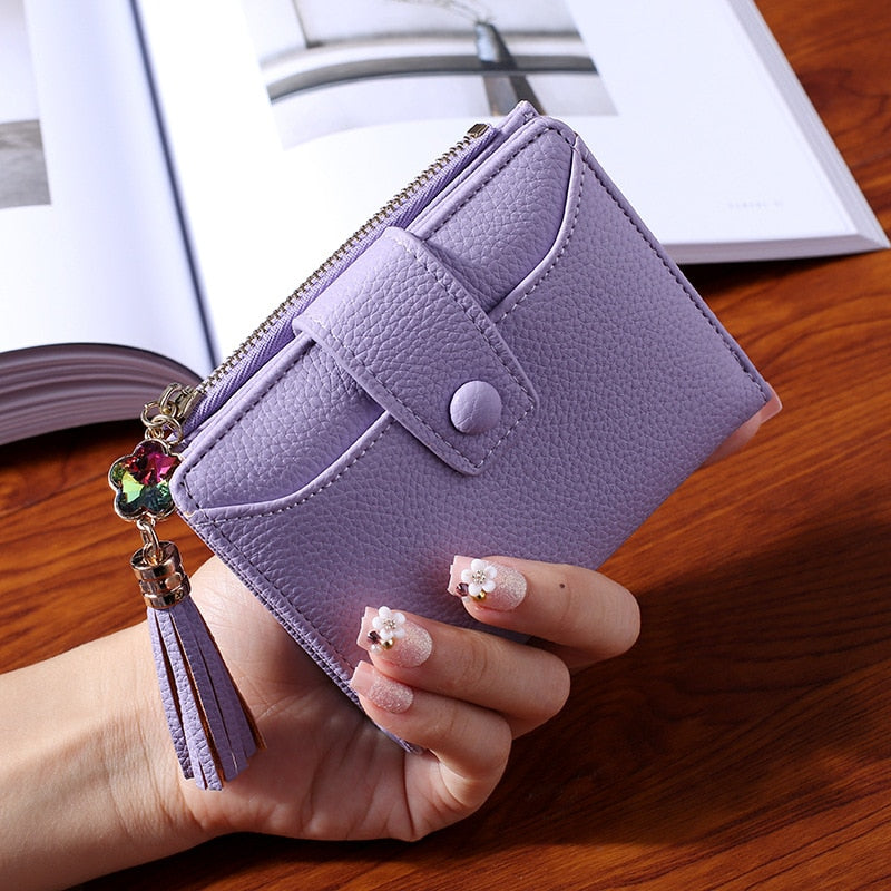 WESTERN AUSPICIOUS Women Wallet 2018 New Purple Blue Gray Black Wallet Female Zipper And Hasp Lady Card Holder-geekbuyig