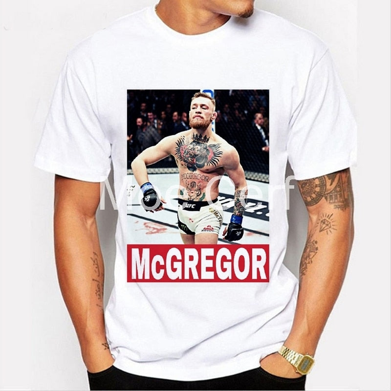 Men T-shirt Brand MMA Conor Mcgregor Funny T shirt boxer Fitness CROSSFIT White Short Sleeve Casual Tees Hipster L9-D-49-geekbuyig