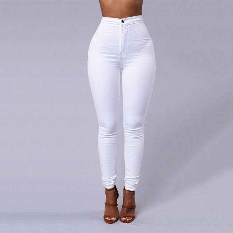 LNRRABC Fashion Multicolor Women Skinny Jeans High Waist Pencil Stretch Casual Look Elasticity Women Jeans Clothing-geekbuyig