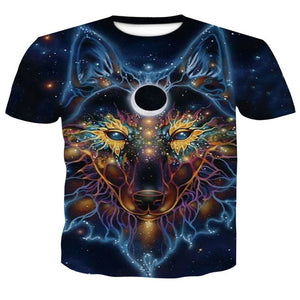 2018 Newest Harajuku Wolf 3D Print Cool T-shirt Men Short Sleeve Summer Tops Tees T shirt Tshirts Men T Shirt Fashion Clothing-geekbuyig