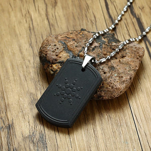 Quantum Scalar Energy Bio Science Pendant Necklace for Men Dog Tag Japanese Technology Volcanic Lava Radiation Protection Jewels-geekbuyig