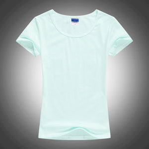 Slim Sexy Custom Logo photo Text Printed Female Women T shirt Summer Cool Basic Lady T-shirts Tops Short Sleeve Tees Femme Shirt-geekbuyig