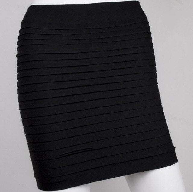 The Most Cheap New Color Fashion 2018 Summer Ladies Skirt High Waist Candy Color Plus Large Elastic Pleated Skirt A-Line Skirt-geekbuyig