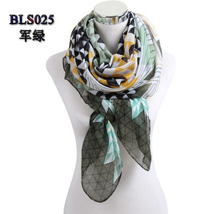 Drop shipping New Women scarf hot sale ladies' print geometric viscose scarf Infinity Scarves Warm Scarves Gift BLS025-geekbuyig