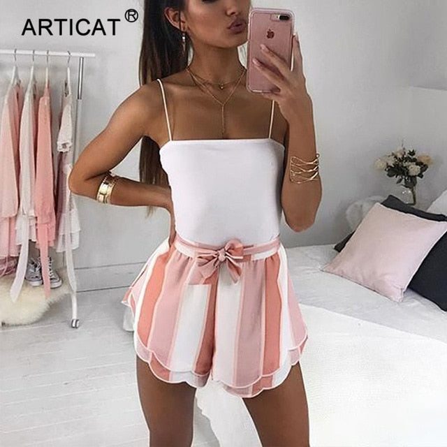 Articat Spaghetti Strap Sexy Bodysuit Women Backless Bodycon Summer Rompers Womens Jumpsuit Women Body Suit Casual Bodysuits-geekbuyig