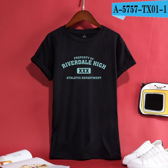 Trendy Riverdale Women/Men Summer T-Shirt Casual Personality Quality 100%Cotton Hipster Like Breathable Comfortable Top Hot Tees-geekbuyig