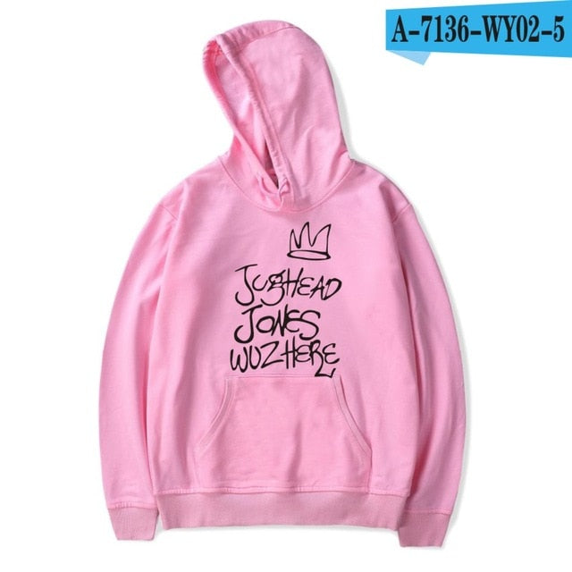 BTS Riverdale Jughead Jones Wuz Here Female Women Hoodies Sweatshirts Hooded Hoody pullovers Harajuku Casual Television TV Show-geekbuyig