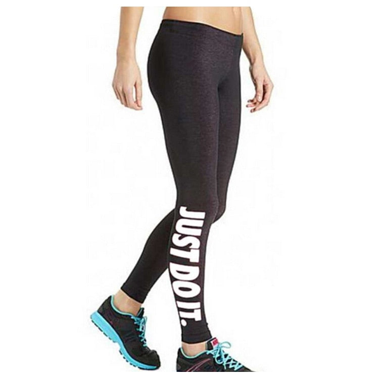 New Brand Women's Leggings Harajuku Just Do It Letter Printed Black Fitness Casual Sexy Modal casual wear pants-geekbuyig