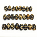 20pcs/lots Natural Stone Accessories Beads Tibetan Dzi Beads 8mm*12mm for making diy Jewelry Free Shipping-geekbuyig