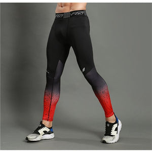 New Fitness Jogger Pants Men Tights Men Compression Sportswear Leggings Gyms Skinny Bodybuilding Elastic Trousers Tight Pants-geekbuyig