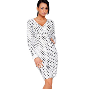 AAMIKAST New Fashion Summer 2018 Elegant Celebrity Pregnant Women Plus Size Short Sleeve Cotton Casual Bodycon Women Dresses-geekbuyig