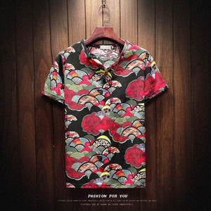 Sinicism Store 2018 Men Cotton Linen Short Sleeve T Shirt Summer Thin Fabric Chinese Traditional Clothes Male Retro t-Shirt 8801-geekbuyig