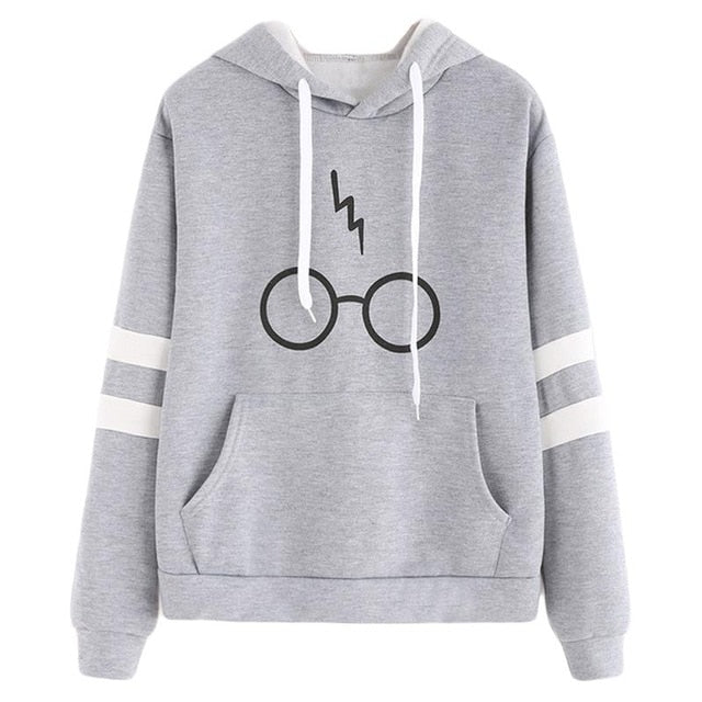 2017 Harajuku Hooded Sweatshirt Glasses Printed Striped Hoodies Long Sleeve Pullovers Autumn Winter Women Kawaii Tracksuit S-2XL-geekbuyig