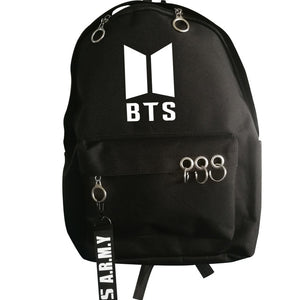 New Kpop BTS BT21 Bangtan Boys Wings Group The Same Oxford Fabric Cloth Students Bag Fashion Teenage Backpack Travel Laptop Bag-geekbuyig