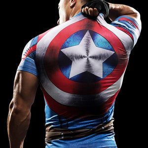 MMA Short Sleeve 3D T Shirt Men T-Shirt Crossfit Tops Punisher Crossfit Funny Superman tshirt Fitness Compression Shirt Tee 4XL-geekbuyig