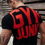 2018 Summer New Mens Gyms T shirt Crossfit Fitness Bodybuilding Letter Printed Male Short Cotton clothing Brand Tee Tops 5 Color-geekbuyig