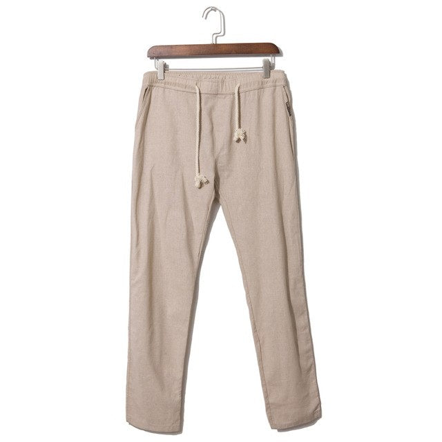 2017 fashion men linen trousers , Comfortable breathable linen trousers ,Summer casual large size men's straight linen trousers-geekbuyig