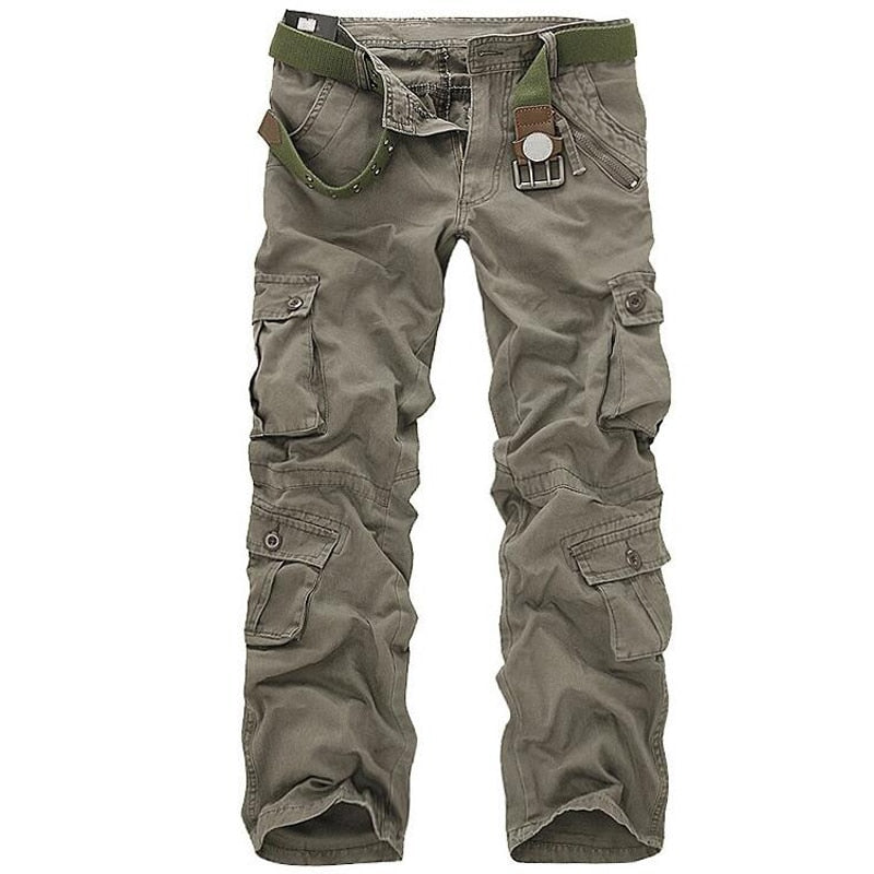 Men Tactical Military Pants Male Casual Multi-pockets Overalls Loose Style Trousers Mens Fashion Cargo Outwear Camouflage Pants-geekbuyig
