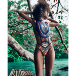 JAYCOSIN Bohemia Monokini Women African Print Bodysuit Lady Skinny Push-Up Padded Bra Beachwear Jumpsuit Beachwear D30 Mar29-geekbuyig