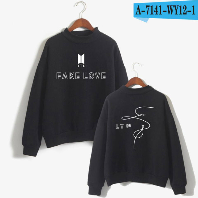 BTS Love Yourself Tear Hot Sale Anime Print Women/Men Fake Love Cool Turtleneck Sweatshirt Fashion Autumn PlusSize 4XLA7141-7144-geekbuyig