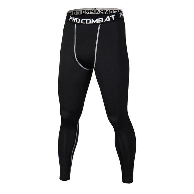 Mens Workout Fitness Compression Leggings Summer Brand Casual Pants Men Crossfit Bodybuilding Skinny Tight Fitness Male Trousers-geekbuyig