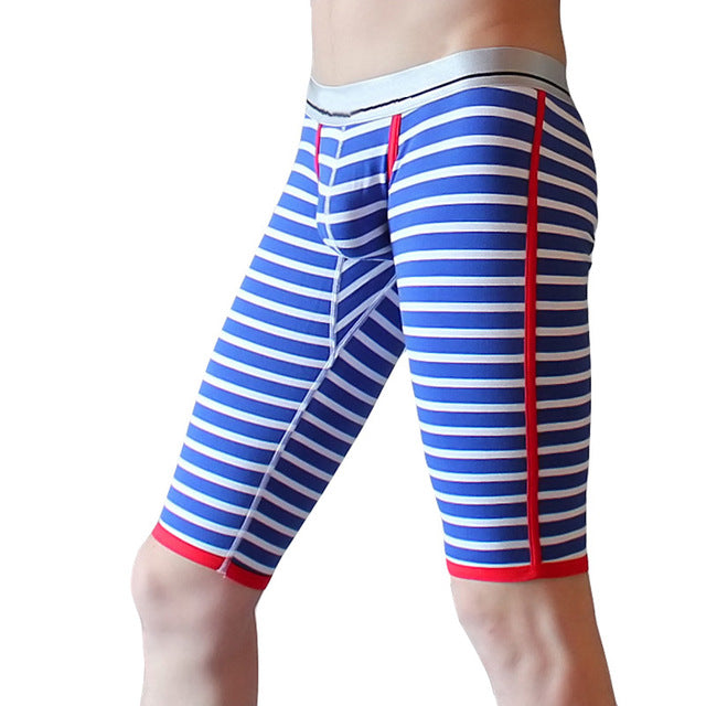 Cotton fabric long johns men comfortable striped print mens thermal underwear long johns thermal underwear men only pants B04-11-geekbuyig