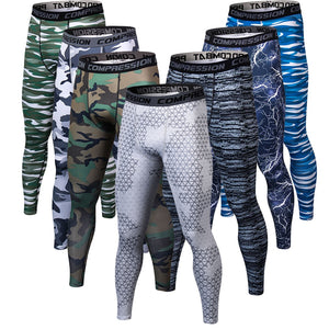 New Camouflage Pants Men Compression Pant Elastic Fabrics Lifting Bodybuilding Skin Tights Trousers Brand Clothing For Men-geekbuyig
