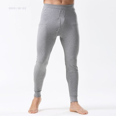 2018 new Men Underwear Pants slim solid color Leggings keep warm thin trouser Asian size-geekbuyig