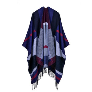 hot 2018 winter poncho fashion cashmere scarves for women pashmina Knit Shawl Tassel Cape Thicken lady Blanket female echarpe-geekbuyig