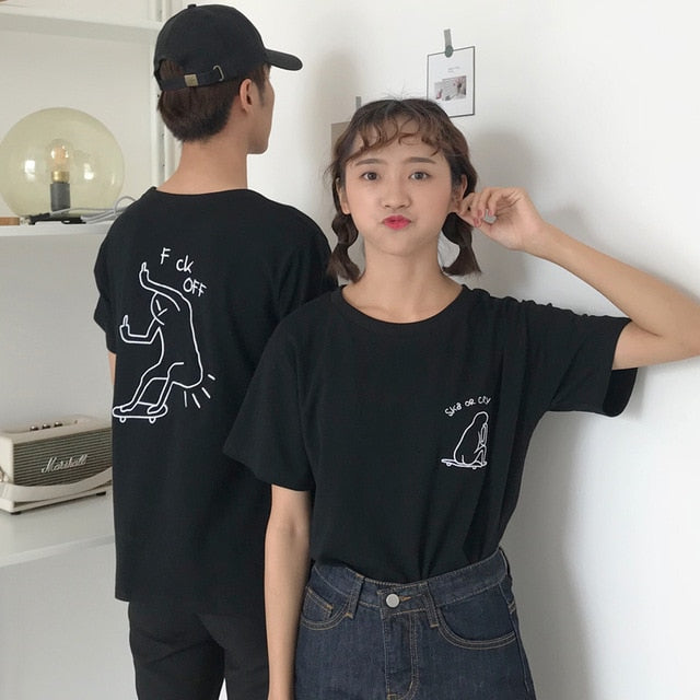 Women Casual T shirt Ulzzang Harajuku Kawaii Cartoon Tops Tee Female Fashion Summer T-shirt Preppy Style Tshirt HT6047-geekbuyig