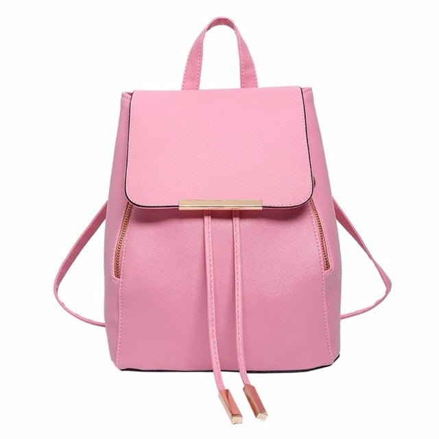 Backpack Women Pu Leather Female Backpacks Teenager School Bags Mochila Feminina Rucksack Mochilas Mujer 2018-geekbuyig
