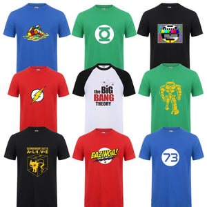 Fashion New Sheldon Cooper Penny Men T Shirt Summer Short sleeve The Big Bang Theory T-shirt Cotton Cooper Logo Men T-shirt Tops-geekbuyig
