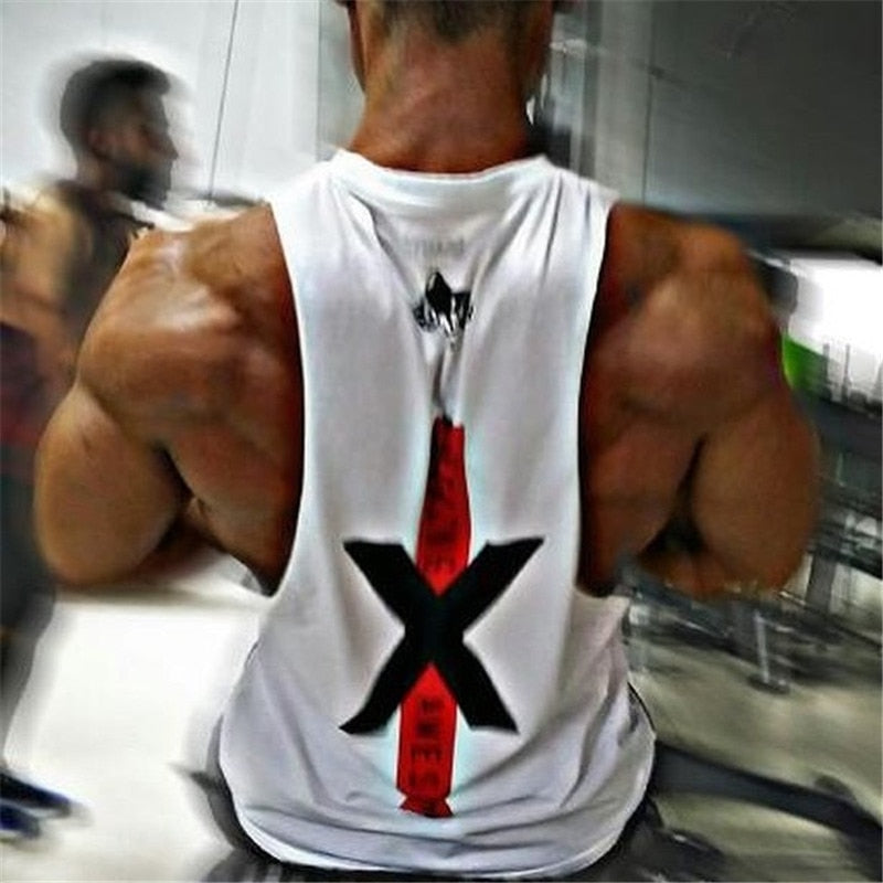 New design Men Brand Gyms Sleeveless bodybuilding Tank Tops Men's Summer gyms Fitness Casual O-neck Men Tank Tops-geekbuyig